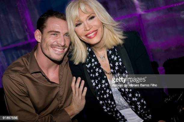 Guillaume and Amanda Lear host the 'Girly Star Party' at Kube Hotel on October 14 2009 in Paris France