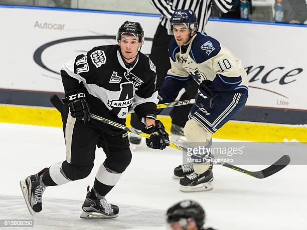Guillaume Beaudoin of the BlainvilleBoisbriand Armada skates during the QMJHL game against the Sherbrooke Phoenix at the Centre d'Excellence Sports...