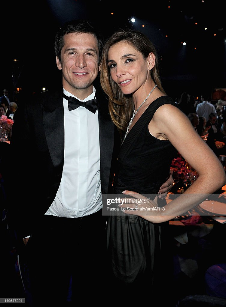 Guillaume Canet and Clotilde Courau attend amfAR's 20th Annual Cinema Against AIDS during The 66th Annual Cannes Film Festival at Hotel du CapEdenRoc...
