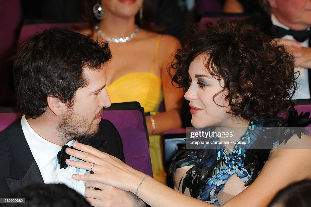 Guillaume Canet and Marion Cotillard attend the Opening Ceremony of the Marrakech 10th Film Festival.