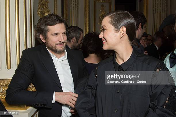 Guillaume Canet and Marion Cotillard attends the 'Cesar Revelations 2017' on January 16 2017 in Paris France