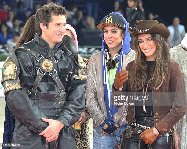Guillaume Canet Charlotte Casiraghi and Jessica Springsteen attend the Gucci Paris Master Day 3 on December 6 2014 in Villepinte France
