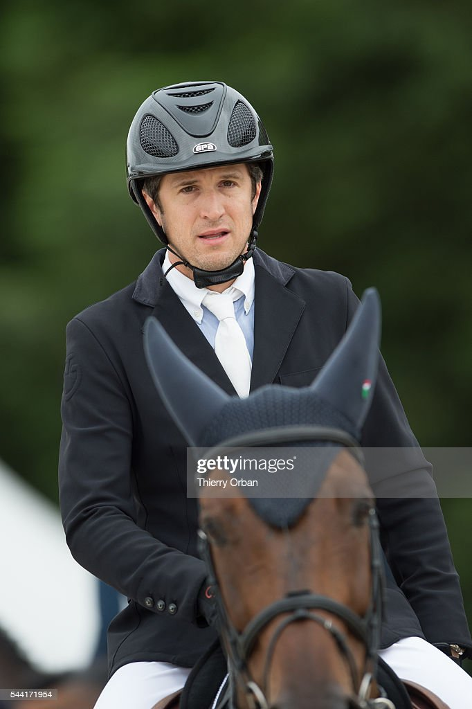 <a gi-track='captionPersonalityLinkClicked' href=/galleries/search?phrase=Guillaume+Canet&family=editorial&specificpeople=240267 ng-click='$event.stopPropagation()'>Guillaume Canet</a> of France competes at the Paris Eiffel Jumping 2016 held at Parc de Bagatelle on July 1, 2016 in Paris, France.