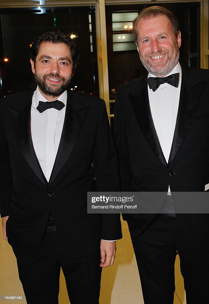 Guillaume de Seynes (R) and guest attend AROP Gala Dinner on October 18, 2012 in Paris, France.