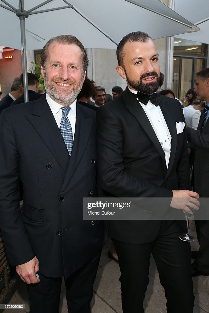 Guillaume De Seynes and Julien Fournie attend the Chambre Syndicale de la Haute Couture cocktail party at Palais De Tokyo on July 4, 2013 in Paris, France.