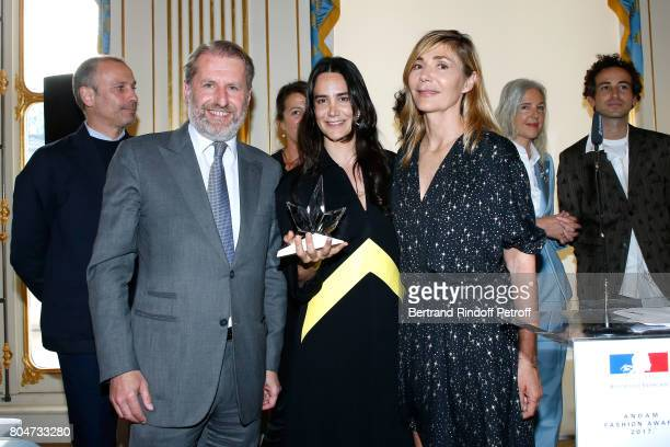 Guillaume de Seynes 'Prix Accessoires de Mode' Jewelry Designer Ana Khouri and Creator of the Price Nathalie Dufour 'Grand Prix' Glenn Martens attend...