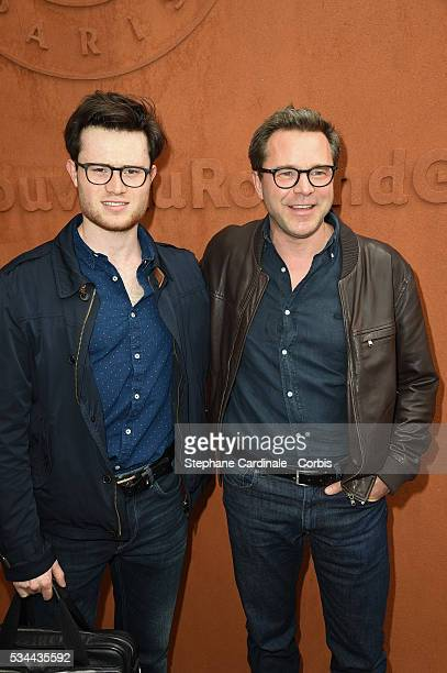 Guillaume de Tonquedec and his son Amaury attend day five of the 2016 French Open at Roland Garros on May 26 2016 in Paris France
