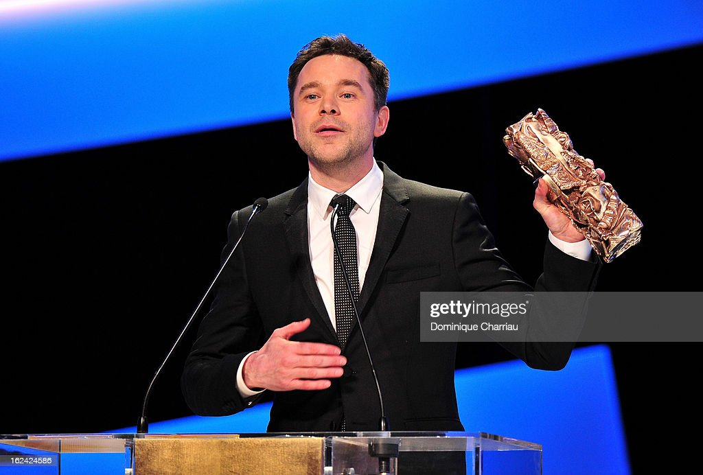 Guillaume de Tonquedec receives the Best Supporting Actor Cesar for 'Le prenom' during the 37th Cesar Film Awards Cesar Film Awards 2013 at Theatre du Chatelet on February 22, 2013 in Paris, France.