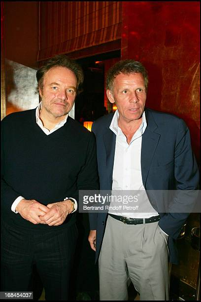 Guillaume Durand and Patrick Poivre D'Arvor at 100th Episode Of 'Campus' Of Guillaume Durant At Le Cafe De L'Homme Restaurant At The Trocadero