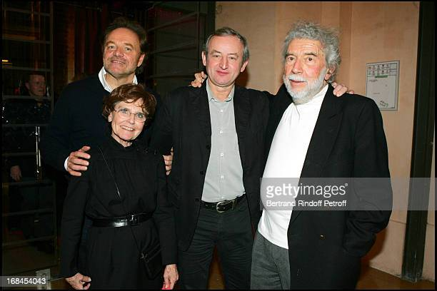 Guillaume Durand Yann Quefelec Alain Robbe Grillet and his wife at 100th Episode Of 'Campus' Of Guillaume Durant At Le Cafe De L'Homme Restaurant At...
