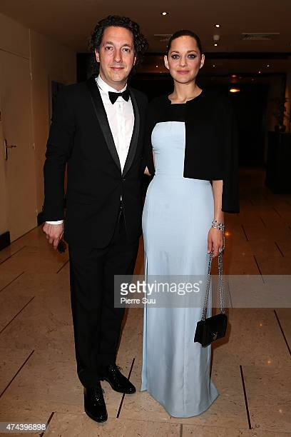 Guillaume Gallienne and Marion Cotillard at the Majestic Hotel during the 68th annual Cannes Film Festival on May 22 2015 in Cannes France