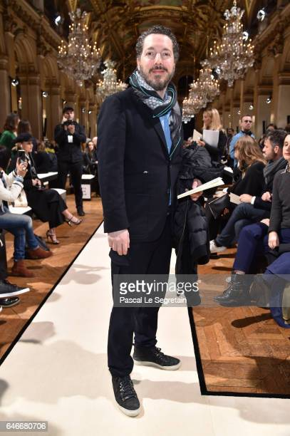 Guillaume Gallienne attends the Lanvin show as part of the Paris Fashion Week Womenswear Fall/Winter 2017/2018 on March 1 2017 in Paris France