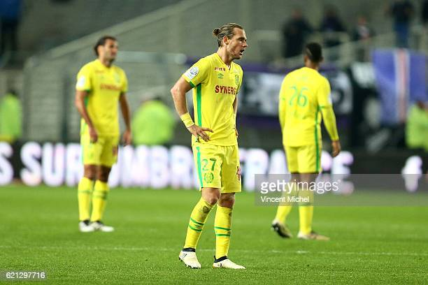 Guillaume Gillet of Nantes during the Ligue 1 match between Fc Nantes and Toulouse Fc at Stade de la Beaujoire on November 5 2016 in Nantes France