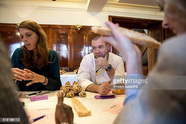 Guillaume Gomez Chef of Elysee Palace takes part to the jury of Award to the best French Parisian baguette 'Tradition' at the Chamber of Artisanal...