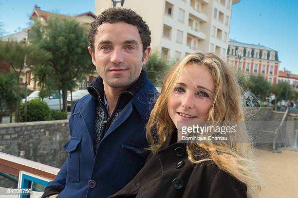Guillaume Gouix and Fanny Touron attend a Photo Session during the 18th Young Directors International Festivalon October 12 2013 in Saint Jean de Luz...