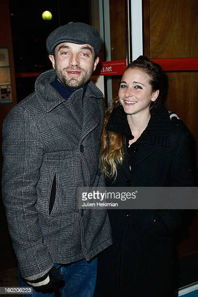 Guillaume Gouix and guest attend the 'Mariage Pour Tous' Party event at Theatre du RondPoint on January 27 2013 in Paris France