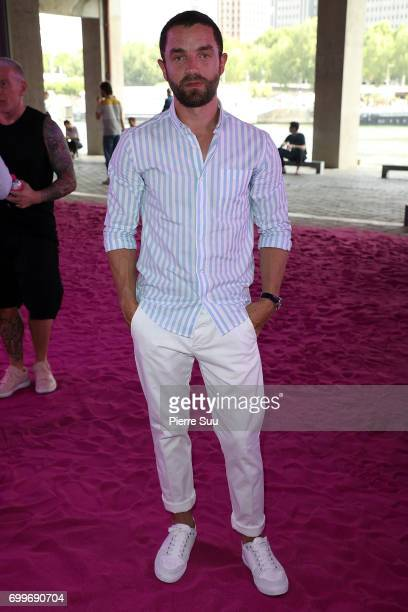 Guillaume Gouix attends the Ami show during the Paris Fashion Week Menswear Spring/Summer 2018 on June 22 2017 in Paris France