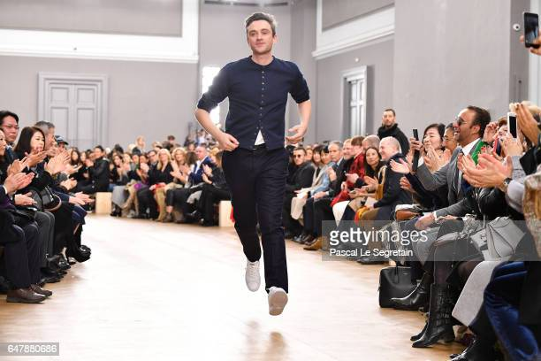 Guillaume Henry walks the runway during the Nina Ricci show as part of the Paris Fashion Week Womenswear Fall/Winter 2017/2018 on March 4 2017 in...
