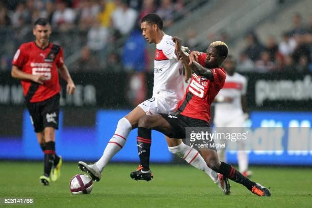 Guillaume HOARAU / Georges MANDJECK Rennes / PSG 2eme journee de Ligue 1