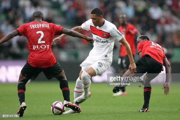 Guillaume HOARAU / Kevin THEOPHILE CTAHERINE Rennes / PSG 2eme journee de Ligue 1