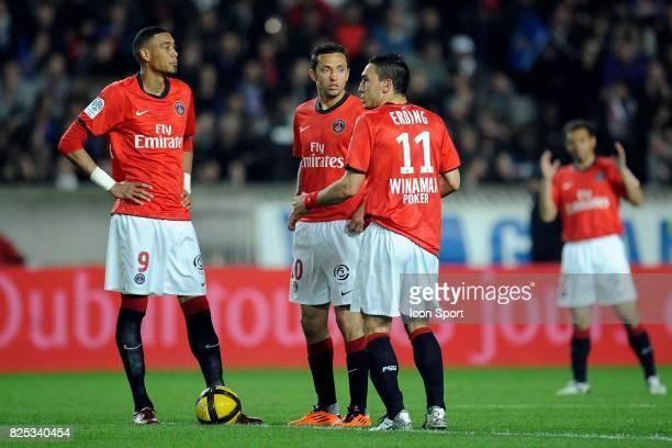 Guillaume HOARAU / NENE / Mevlut ERDING Paris Saint Germain / Lyon 31e journee Ligue 1
