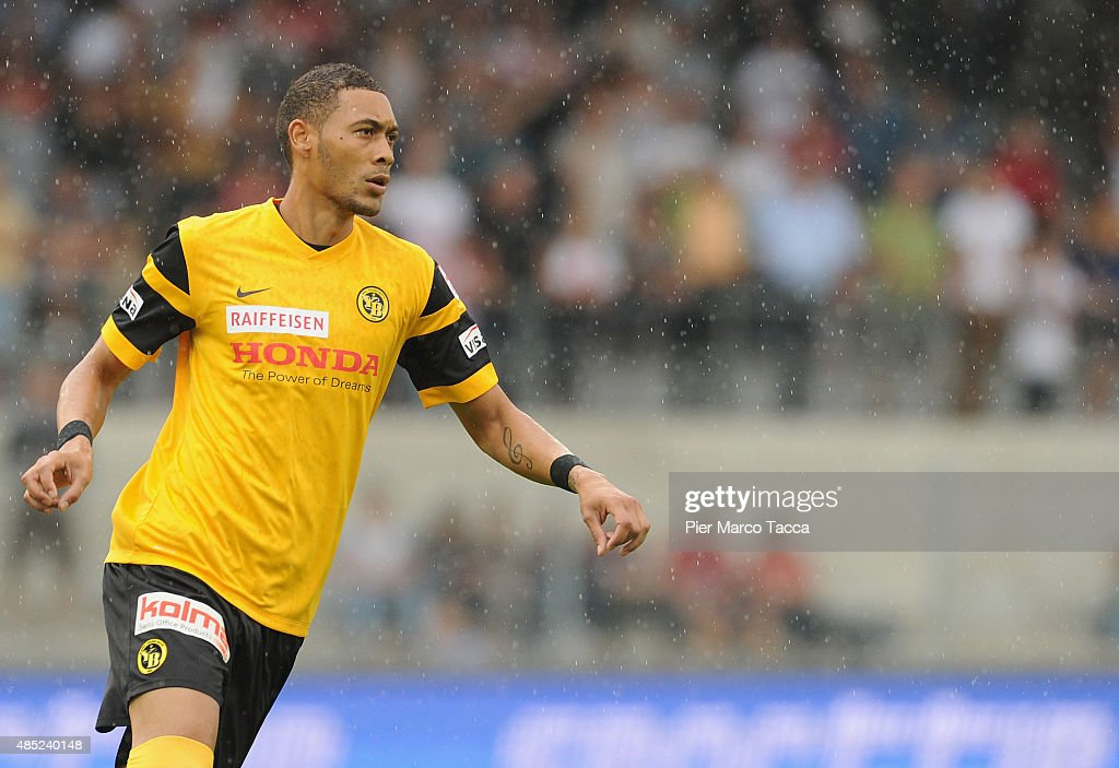 <a gi-track='captionPersonalityLinkClicked' href=/galleries/search?phrase=Guillaume+Hoarau&family=editorial&specificpeople=5223496 ng-click='$event.stopPropagation()'>Guillaume Hoarau</a> of BSC Young Boys in action during the Raiffeisen Super League match between FC Sion and BSC Young Boys on August 23, 2015 in Sion, Switzerland.