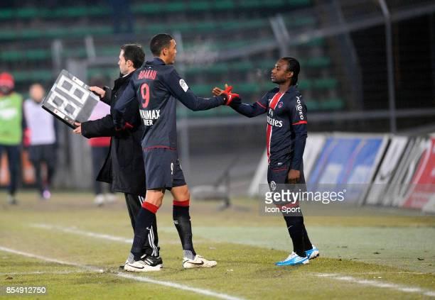Guillaume HOARAU / Stephane SESSEGNON Valenciennes / PSG 17eme journee de Ligue1