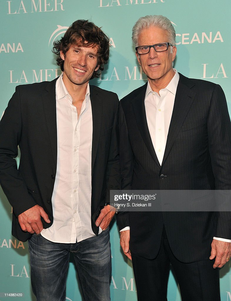 Guillaume Nery and actor Ted Danson attend World Ocean Day 2011 celebrated by La Mer and Oceana at Affirmation Arts on May 18, 2011 in New York City.