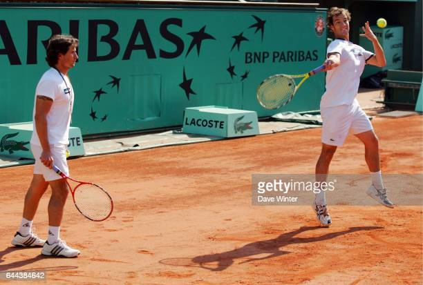Guillaume PEYRE / Richard GASQUET Entrainement Roland Garros 2008 Photo Dave Winter / Icon Sport