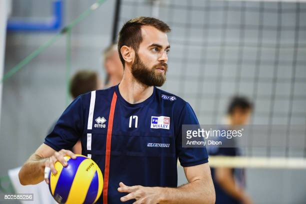 Guillaume Quesque of France during a training session of the French volleyball national team on June 28 2017 in Vincennes France