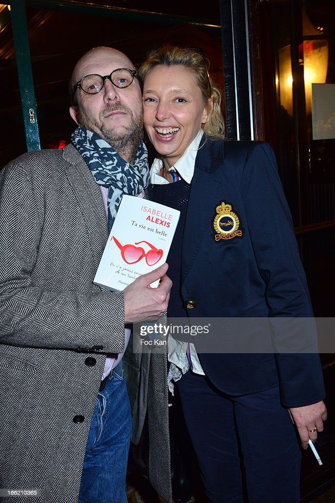 Guillaume Rappeneau and Isabelle Alexis attend La Closerie Ses Lilas Literary Awards 2013 - 6th Edition At La Closerie Des Lilas on April 9, 2013 in Paris, France.