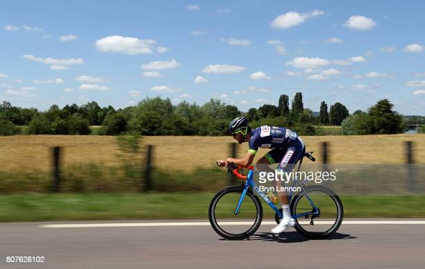 Guillaume van Keirsbulck of Belgium and team Wanty Groupe Gobert rides during stage four of Le Tour de France 2017 on July 4 2017 in Vittel France