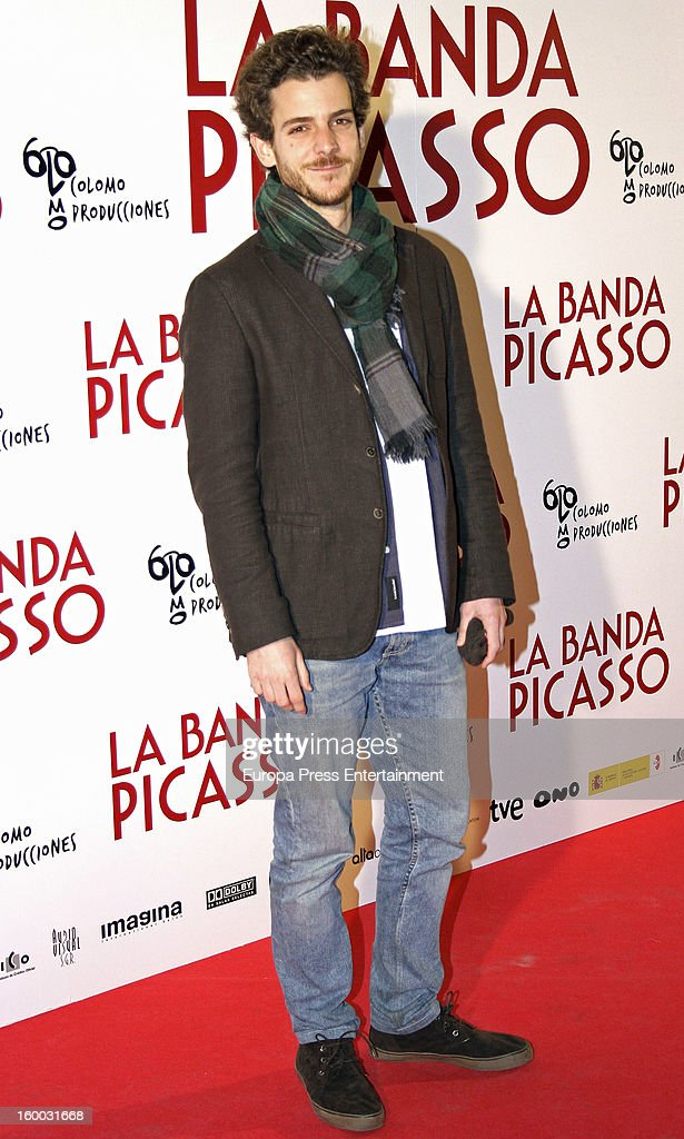Guillermo Barrientos attends 'La Banda Picasso' premiere on January 24, 2013 in Madrid, Spain.