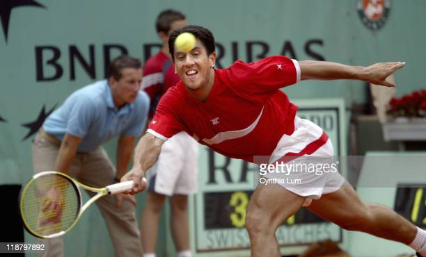 Guillermo Canas lunges for the ball Guillermo Canas defeated PaulHenri Mathieu 63 76 26 67 86 in the third round of the 2005 French Open at Roland...