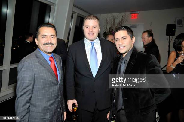 Guillermo Chacon Jason Cromley and Robert Lozano attend AID FOR AIDS 'My Hero Gala' at Kimmel Center on December 7 2010 in New York City