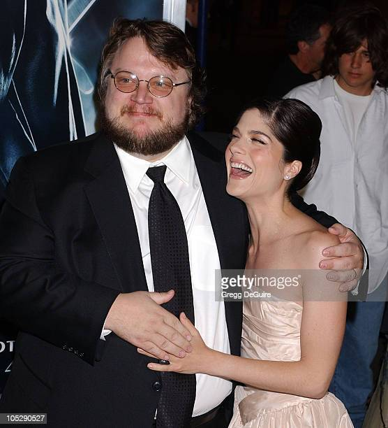 Guillermo del Toro and Selma Blair during 'Hellboy' Los Angeles Premiere Arrivals at Village Theatre in Westwood California United States
