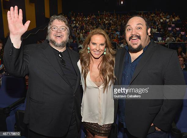 Guillermo del Toro Kate del Castillo and Jorge RGutierrez attend 'THE BOOK OF LIFE' Red Carpet at Regal South Beach 18 on October 13 2014 in Miami...