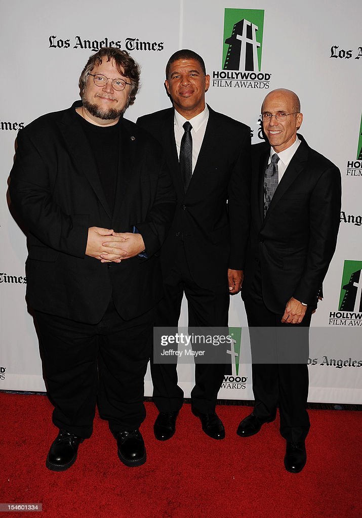 Guillermo del Toro, Peter Ramsey and Jeffrey Katzenberg arrive at the 16th Annual Hollywood Film Awards Gala presented by The Los Angeles Times held at The Beverly Hilton Hotel on October 22, 2012 in Beverly Hills, California.