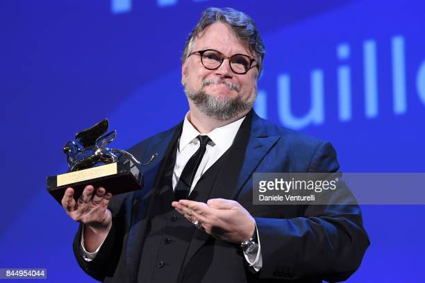 Guillermo del Toro receives the Golden Lion for Best Film Award for 'The Shape Of Water' during the Award Ceremony of the 74th Venice Film Festival...