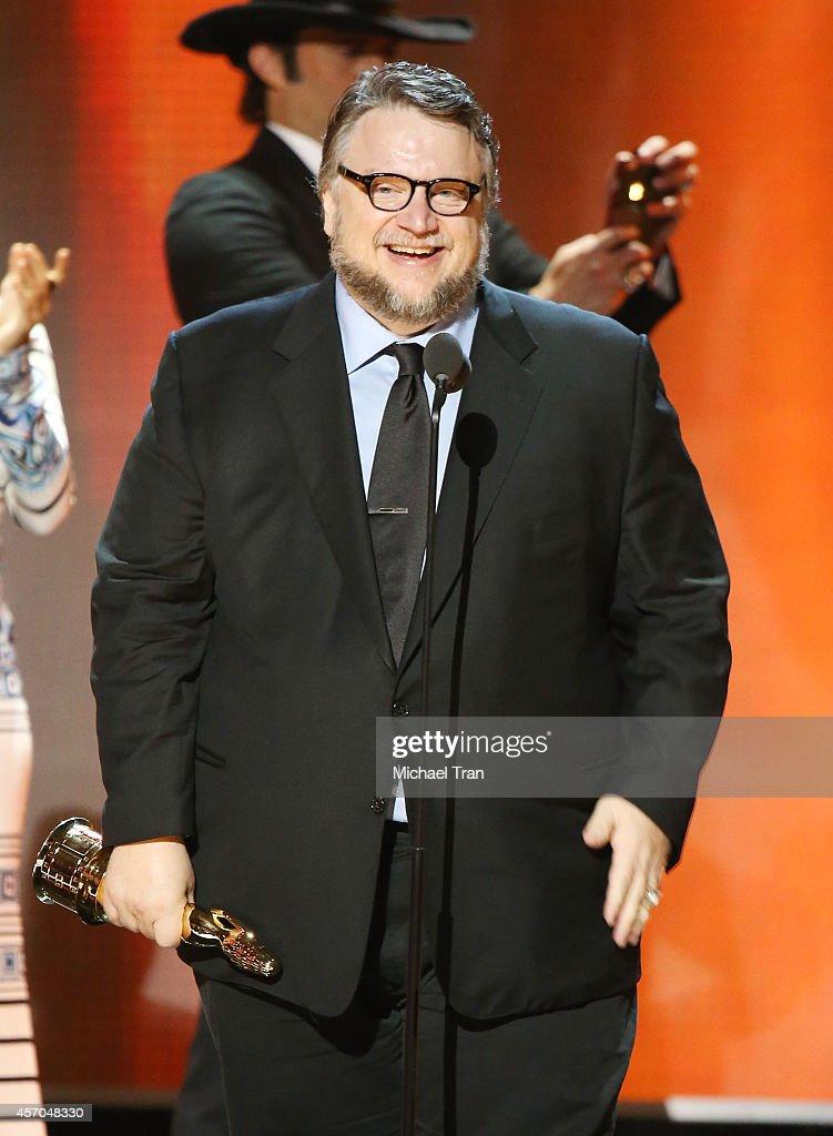 Guillermo del Toro speaks onstage during the 2014 NCLR ALMA Awards held at Pasadena Civic Auditorium on October 10 2014 in Pasadena California