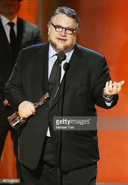 Guillermo del Toro speaks onstage during the 2014 NCLR ALMA Awards held at Pasadena Civic Auditorium on October 10 2014 in Pasadena California