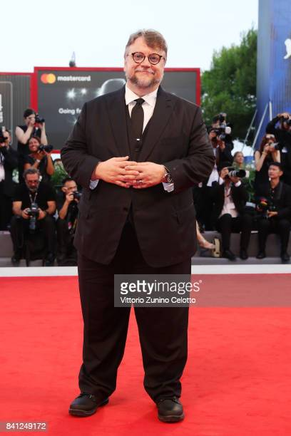 Guillermo del Toro walks the red carpet ahead of the 'The Shape Of Water' screening during the 74th Venice Film Festival at Sala Grande on August 31...