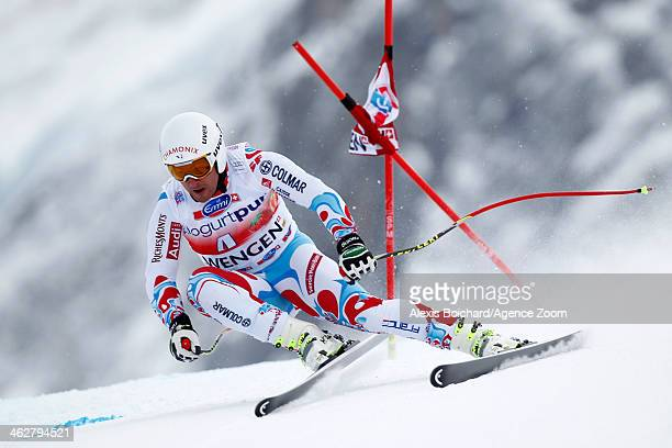 Guillermo Fayed of France competes during the Audi FIS Alpine Ski World Cup MenÕs Downhill Training on January 15 2014 in Wengen Switzerland