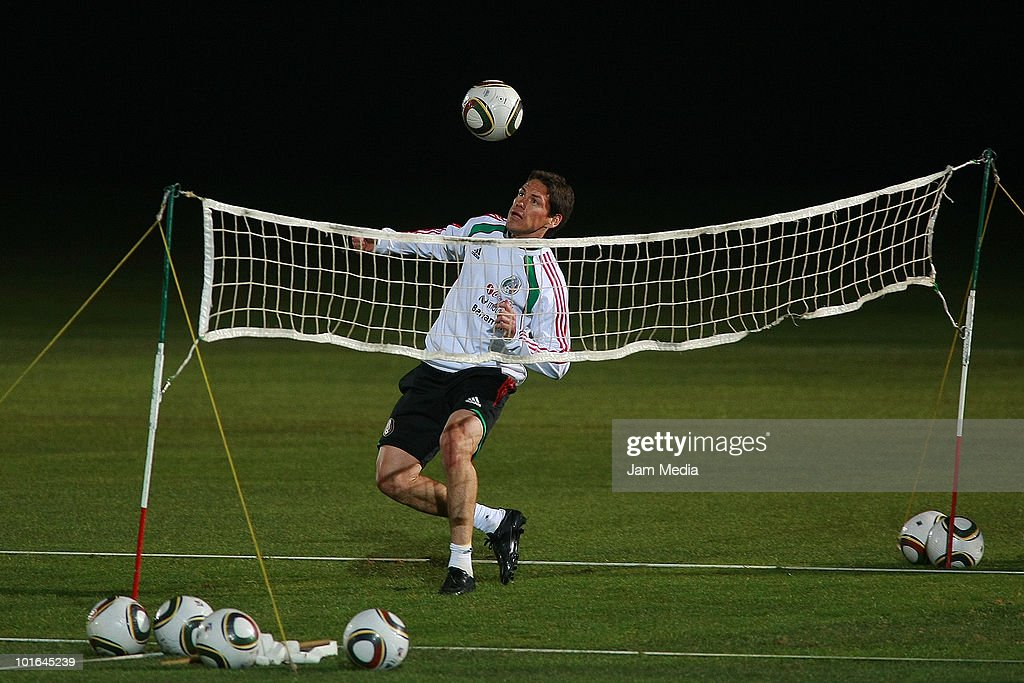 Guillermo Franco of Mexico during a training session at Waterstone College as part of their preparation for FIFA 2010 World Cup on June 5, 2010 in Johannesburg, South Africa.