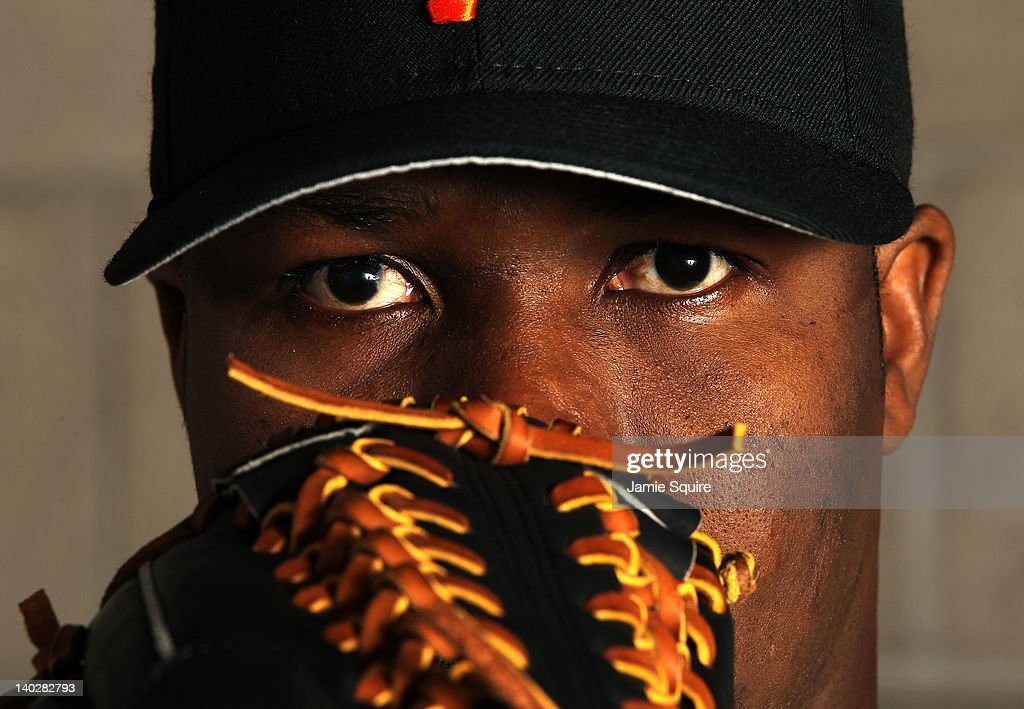 Guillermo Mota #59 of the San Francisco Giants poses during spring training photo day on March 1, 2012 in Scottsdale, Arizona.