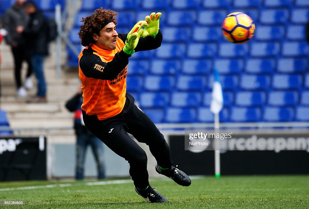 Guillermo Ochoa during the match between RCD Espanyol and Granada CF, on January 21, 2017 in Barcelona, Spain.