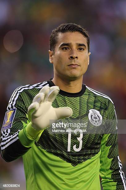 Guillermo Ochoa of Mexico during the 2015 CONCACAF Gold Cup Final match between Jamaica and Mexico at Lincoln Financial Field on July 26 2015 in...