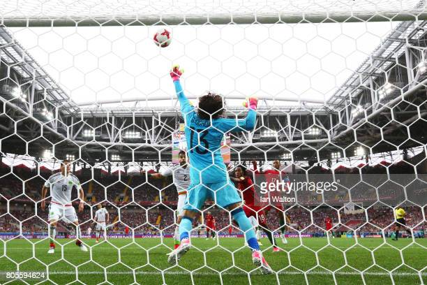 Guillermo Ochoa of Mexico makes a save during the FIFA Confederations Cup Russia 2017 PlayOff for Third Place between Portugal and Mexico at Spartak...