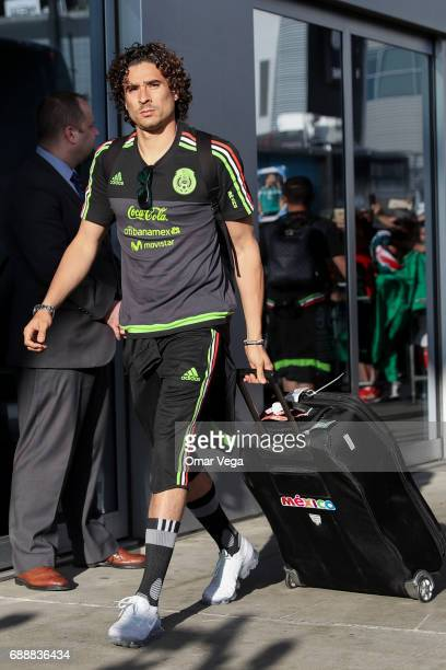 Guillermo Ochoa of Mexico walks during the Mexico's National Team Arrival at JW Marriot Hotel on May 26 2017 in Los Angeles California