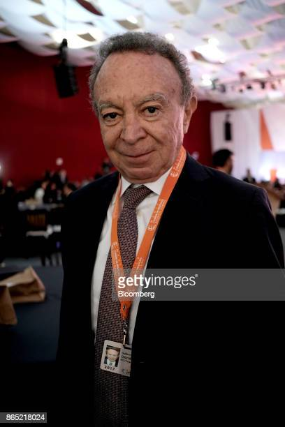 Guillermo Ortiz chairman of Mexico and Latin American at BTG Pactual Group poses for a photograph during the Mexico Business Summit in San Luis...